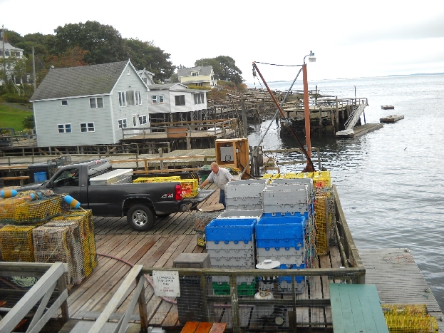 Lobster Traps at Shaw's Fish & Lobster Wharf Restaurant